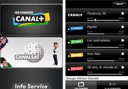 canal plus iphone ipod