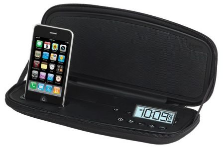 accessoire iphone l 39 ampli radio r veil de voyage. Black Bedroom Furniture Sets. Home Design Ideas