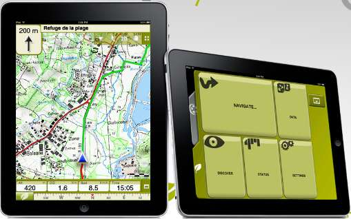 navigation gps avec iphone twonav sur la route et les chemins gr ce aux cartes ign iphone. Black Bedroom Furniture Sets. Home Design Ideas