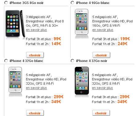 l 39 iphone 4 peut tre command sur le site d 39 orange iphone x 8 ipad et apple watch blog et. Black Bedroom Furniture Sets. Home Design Ideas