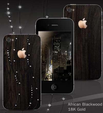 arri re de l 39 iphone 4 cass changez le pour bois or et cristaux iphone x 8 ipad et apple. Black Bedroom Furniture Sets. Home Design Ideas