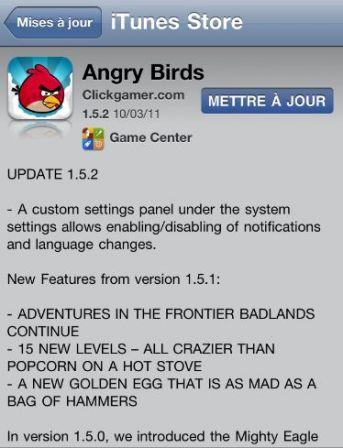 mise jour disponible pour angry birds seasons sur iphone et ipad iphone x 8 ipad et apple. Black Bedroom Furniture Sets. Home Design Ideas