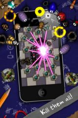 free iPhone app Pocket Bugs - Cute bugs and awesome weapons