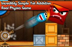 free iPhone app Tiny Ball vs. Evil Devil