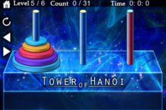 free iPhone app Tower of Hanoi Puzzle