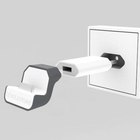le bluelounge minidock transforme votre prise iphone en support mural. Black Bedroom Furniture Sets. Home Design Ideas