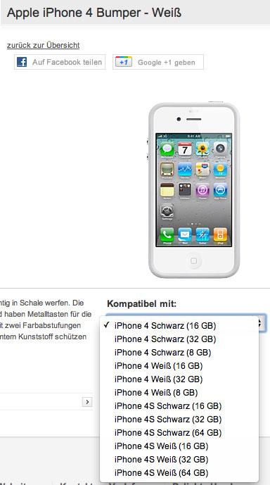 des iphone 4s jusqu 39 64 go et un iphone 4 8 go mentionn s. Black Bedroom Furniture Sets. Home Design Ideas