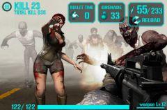 free iPhone app iGun Zombie