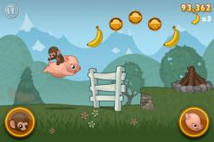 free iPhone app Baby Monkey (going backwards on a pig)