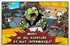free iPhone app Zombie Samurai