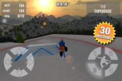 free iPhone app Crazy Snowboard