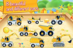 free iPhone app Cars in sandbox: Construction