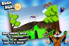free iPhone app Duck Hunt AR