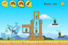 free iPhone app Troll Blaster - Physics Strategy and Puzzle Game