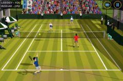 free iPhone app Flick Tennis: College Wars