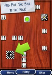 free iPhone app Holes and Balls