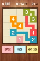 free iPhone app NumberLink - Sudoku style game