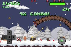 free iPhone app Super Mega Worm Vs Santa