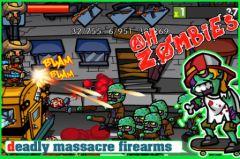 free iPhone app Ah!Zombies HD
