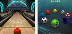 free iPhone app Bowling Game 3D