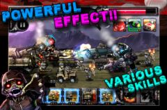 free iPhone app ARMY VS ZOMBIE