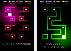 free iPhone app Neon Zone - a tilt and turn puzzle