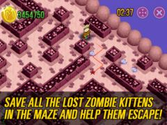 free iPhone app Meow Maze Zombie Cats Game