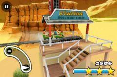free iPhone app 3D Rollercoaster Rush