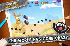 free iPhone app Stickman World Trip
