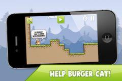 free iPhone app Burger Cat