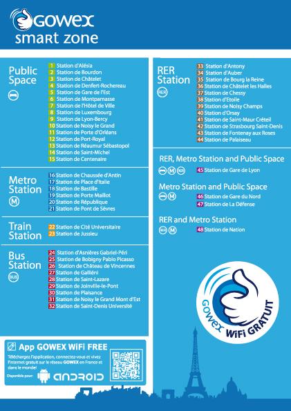 Wifi Gratuit Dans Le Metro Parisien Liste Des 48 Stations