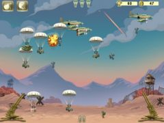 free iPhone app Cut the Parachute: Enemy Invasion