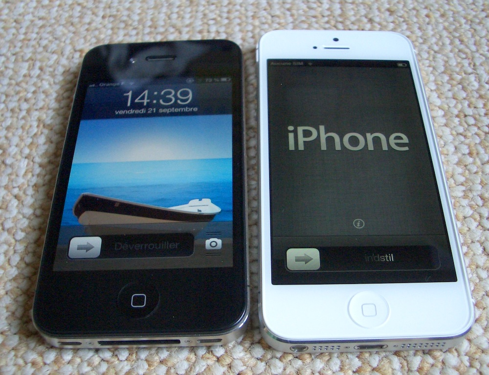comparaison iphone 4 et 4s