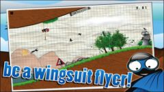 free iPhone app Wingsuit Stickman