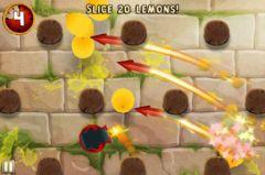free iPhone app Fruit Ninja: Puss in Boots
