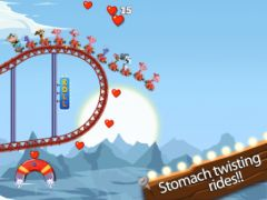 free iPhone app Nutty Fluffies Rollercoaster