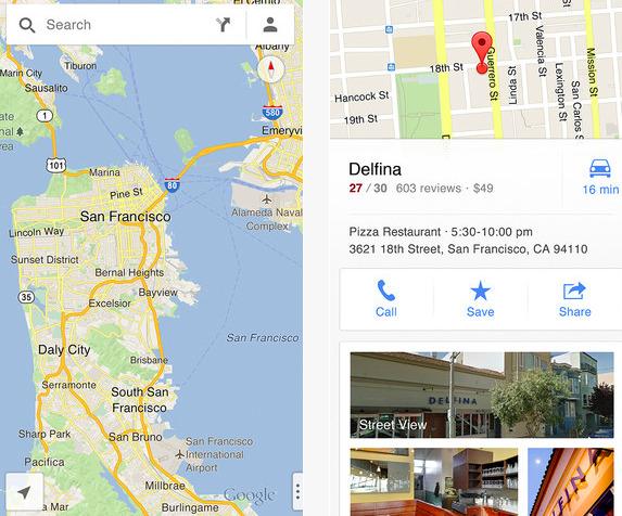 l 39 appli google maps retrouve le chemin de l 39 iphone avec street view guidage vocal plans de. Black Bedroom Furniture Sets. Home Design Ideas