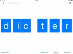 free iPhone app Anagrammes