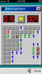 free iPhone app Retromines: The Retro Minesweeper