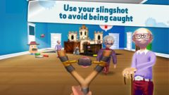 free iPhone app Naughty Boy - Sling and shoot