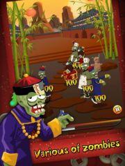 free iPhone app Chinese Zombies vs Ninja
