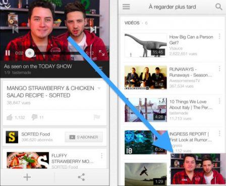 L 39 app youtube pour iphone et ipad s 39 enrichit d 39 un mode de for Fenetre sur cour streaming