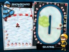 free iPhone app Flick Champions Winter Sports