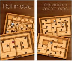 free iPhone app Wooden Labyrinth 3D