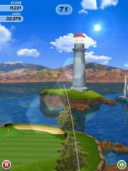 free iPhone app Flick Golf HD