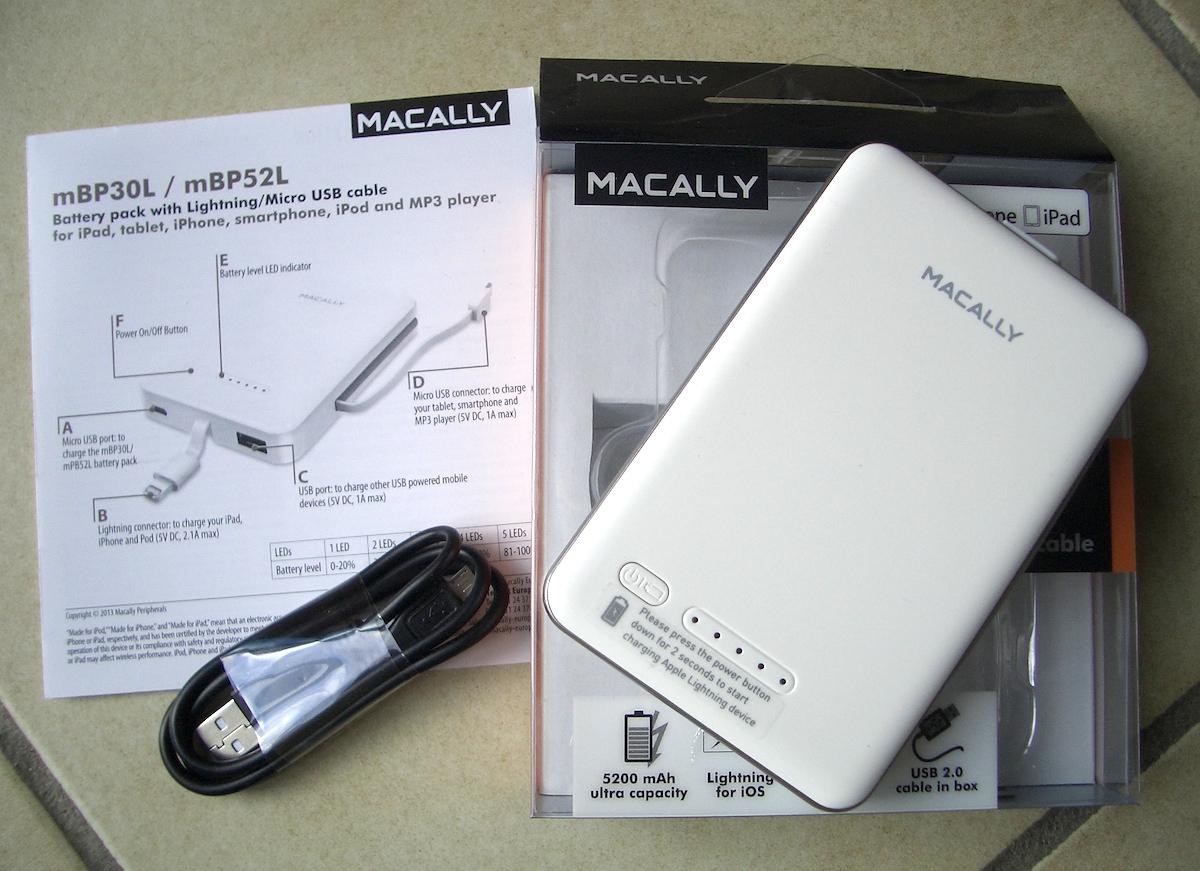 test de la batterie macally mbp52l 5200 mah avec prise lighting et usb pour iphone ipad etc. Black Bedroom Furniture Sets. Home Design Ideas