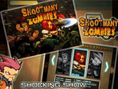 free iPhone app Shoot Many Zombies!