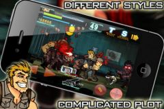 free iPhone app Shoot Many Zombies!