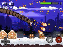 free iPhone app Super Mega Worm Vs Santa 2