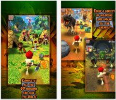 free iPhone app Caveman Dino Rush